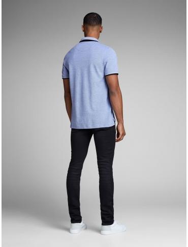 JackJones Chest Polo azul claro manga corta liso