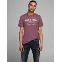 JackJones Jeans camiseta burdeos manga corta Jack & Jones cuello redondo