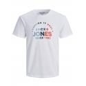 Jack and Jones Types camiseta blanca manga corta letras