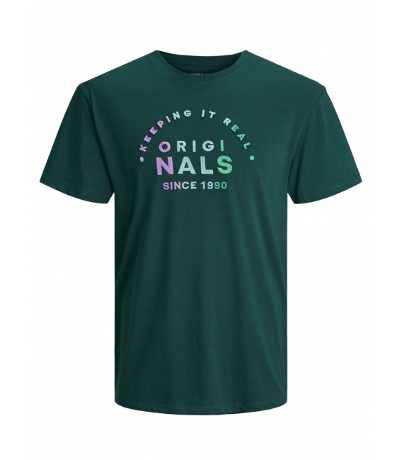 Jack and Jones Types camiseta verde manga corta letras