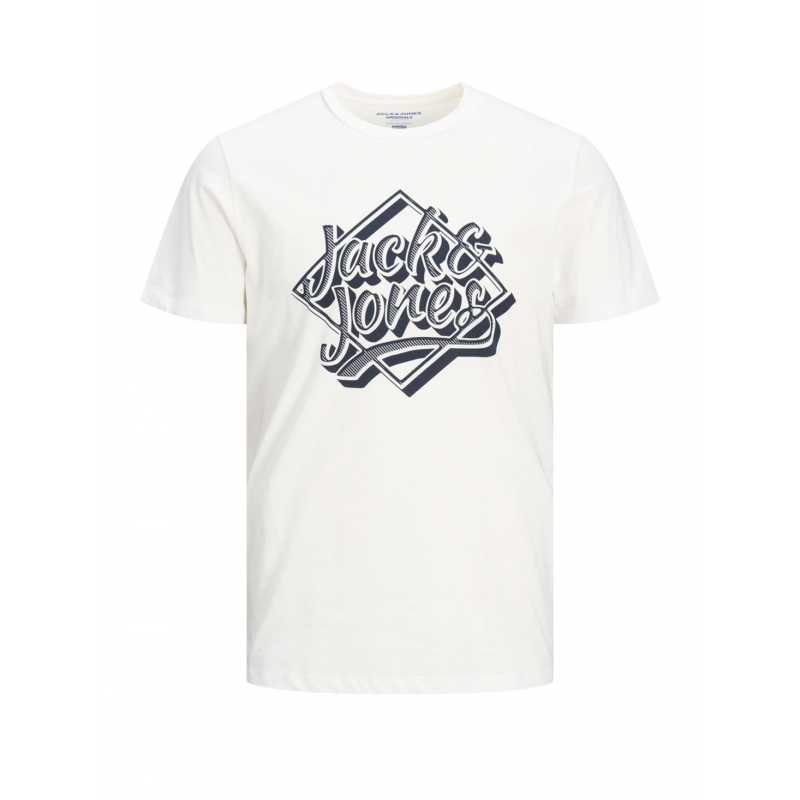 Jack and Jones logotipo Camiseta en Blanco