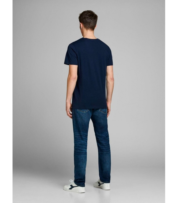 Jack and Jones Ventura camiseta marino manga corta letras