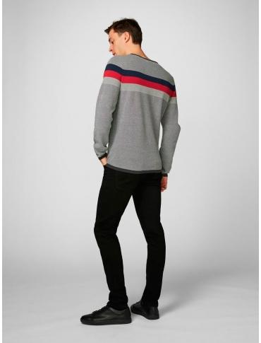Produkt Lorri jersey gris manga larga rayas cuello redondo