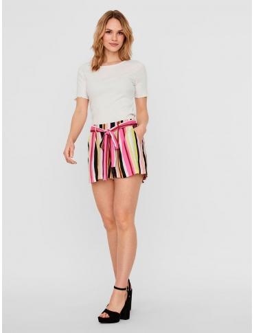 Noisy May Flora shorts color rayas