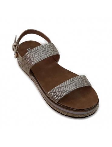 sandalia dorada
