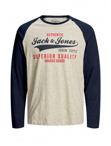 Jack and Jones Eraglan camiseta marino manga larga cuello redondo