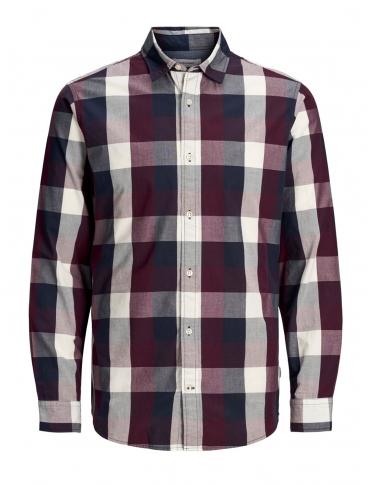 Jack and Jones Plain camisa color manga larga cuadros
