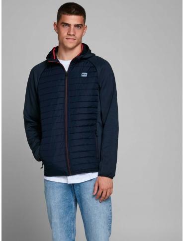 Jack and Jones Multi chaqueta con capucha marino manga larga