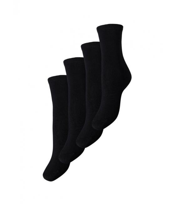 Pieces Elisa Calcetines negro sin mangas liso