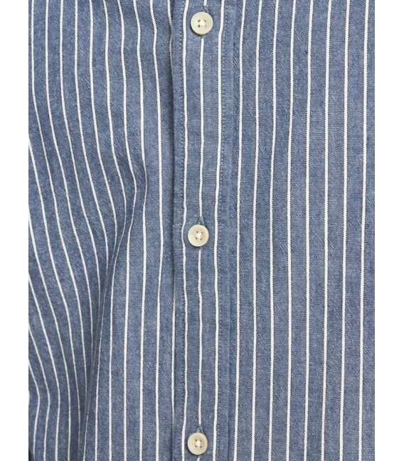 Jack and Jones Classic Camia de cuadros azul manga larga puntos