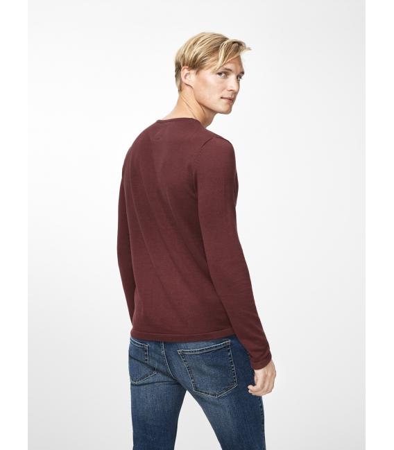 Tori jersey marrón manga larga liso cuello redondo