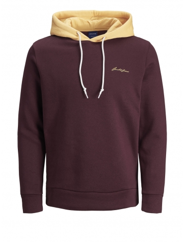 Jack and Jones Romulo Sudadera con capucha burdeos