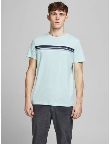 Jack and Jones Art camiseta verde claro manga corta logo cuello redondo casual