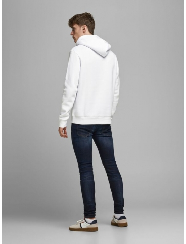 Jack and Jones Corp sudadera con capucha blanca