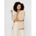 Pieces Boss chaqueta beige liso