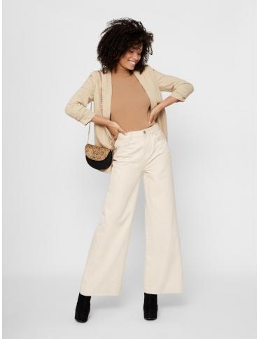 Pieces Boss chaqueta beige liso