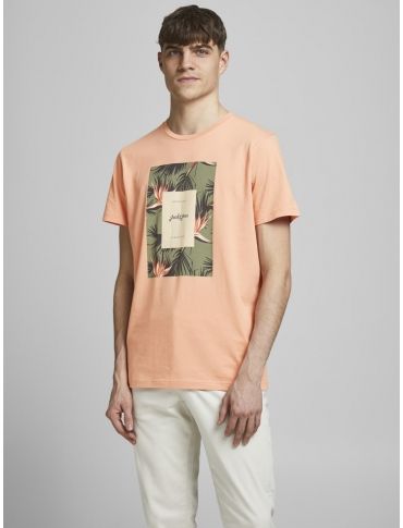 Jack and Jones Florall camiseta coral