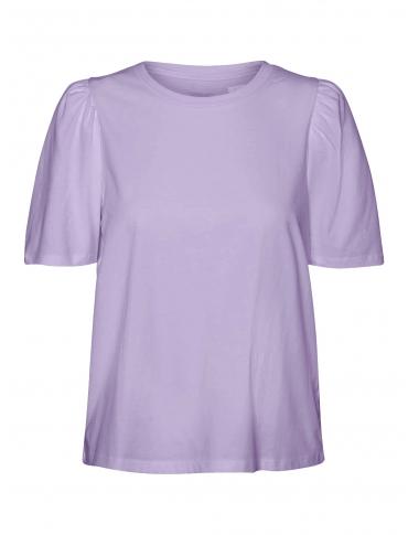 Noisy May Shout camiseta morada cuadros cuello camisero