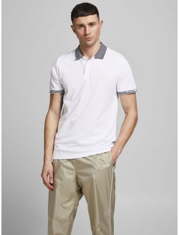 Jack and Jones Change polo blanco