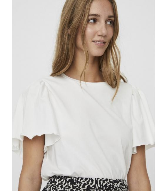 Vero Moda Onella camiseta de algodón orgánico blanca