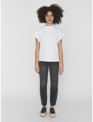 Noisy May Hailey camiseta de algodón orgánico blanca