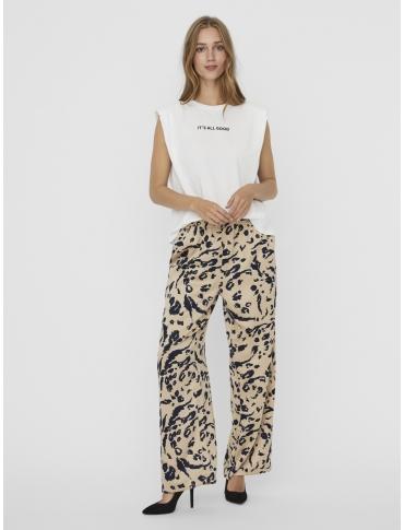 Vero Moda Hollie camiseta algodón orgánico blanca