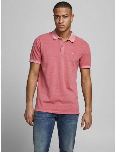 Jack and Jones Whashed polo coral