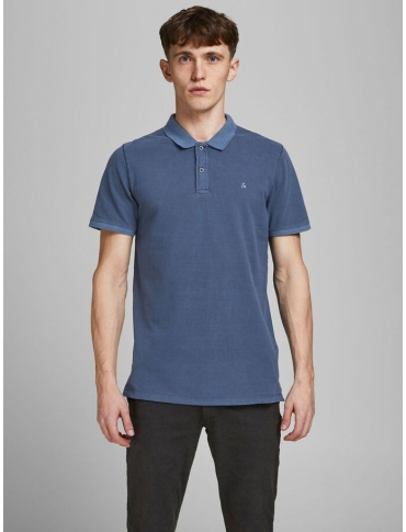 Jack and Jones Whashed polo marino