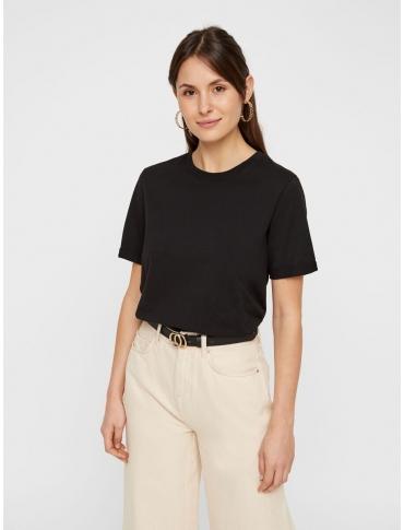 Pieces Ria camiseta negra