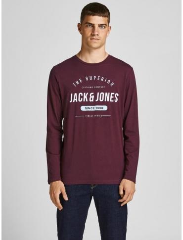 Jack and Jones Herro camiseta burdeos