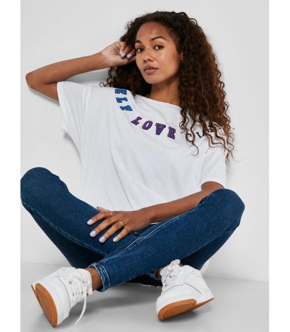 Noisy May Ida camiseta blanca