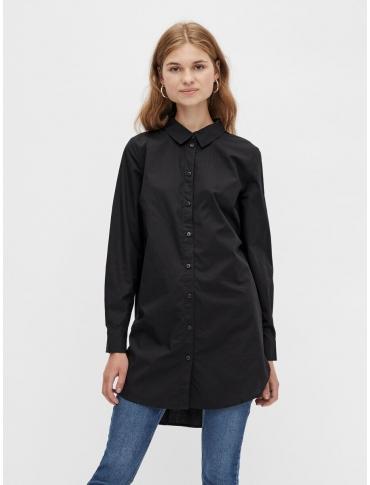 Pieces Noma Camisa larga negra